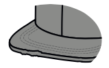 Flat distressed visor