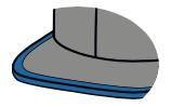 Flat lip visor