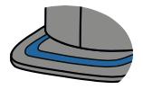Flat patterned visor