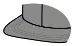 Flat standard visor