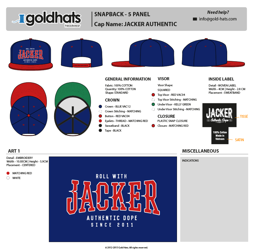 Template example (snapback)